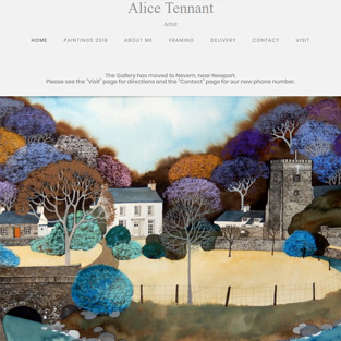 Alice Tennants website