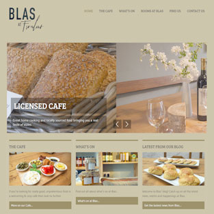 Blas at Fronlas website design.