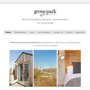 Grove Park Bed and Breakfast website